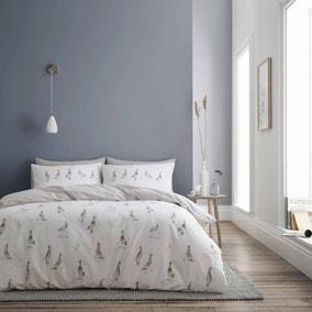 Bianca Fine Linens Dapper Ducks 100% Cotton Duvet Cover and Pillowcase Set