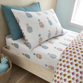 Pineapple Elephant Ananas Pineapple 100% Cotton Fitted Sheet