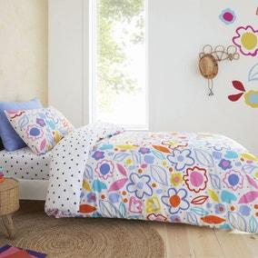 Pineapple Elephant Blomme Floral 100% Cotton Duvet Cover and Pillowcase Set