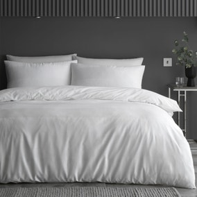 Content by Conran Waffle Stripe 100% Cotton Duvet Cover and Pillowcase Set