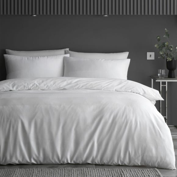 Content by Conran Waffle Stripe 100% Cotton Duvet Cover and Pillowcase Set  undefined