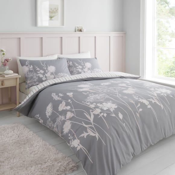 Catherine Lansfield Meadowsweet Floral Pink Duvet Cover and Pillowcase Set  undefined