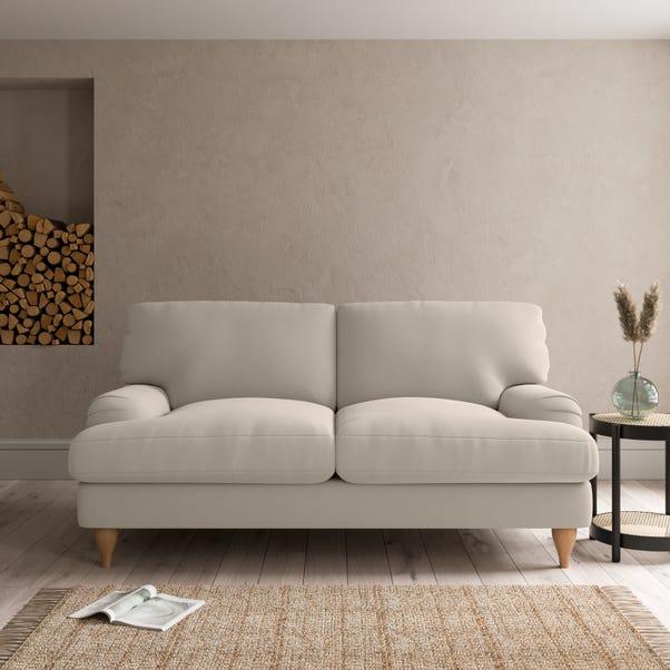 Darwin Luxury Velvet 2 Seater Sofa Luxury Velvet Natural