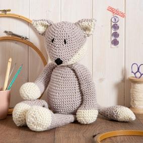 Wool Couture Basil Fox Knitting Kit