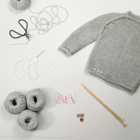 Blossom Baby Jumper Knitting Kit