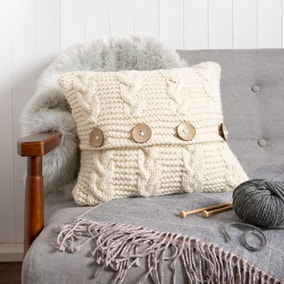 Wool Couture Cable Cushion Knitting Kit