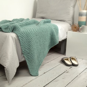 Wool Couture Nyssa Blanket Teal Knitting Kit