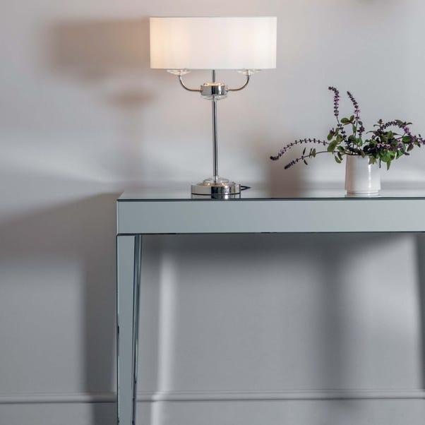Vogue Katarina 2 Light Table Lamp  Nickel