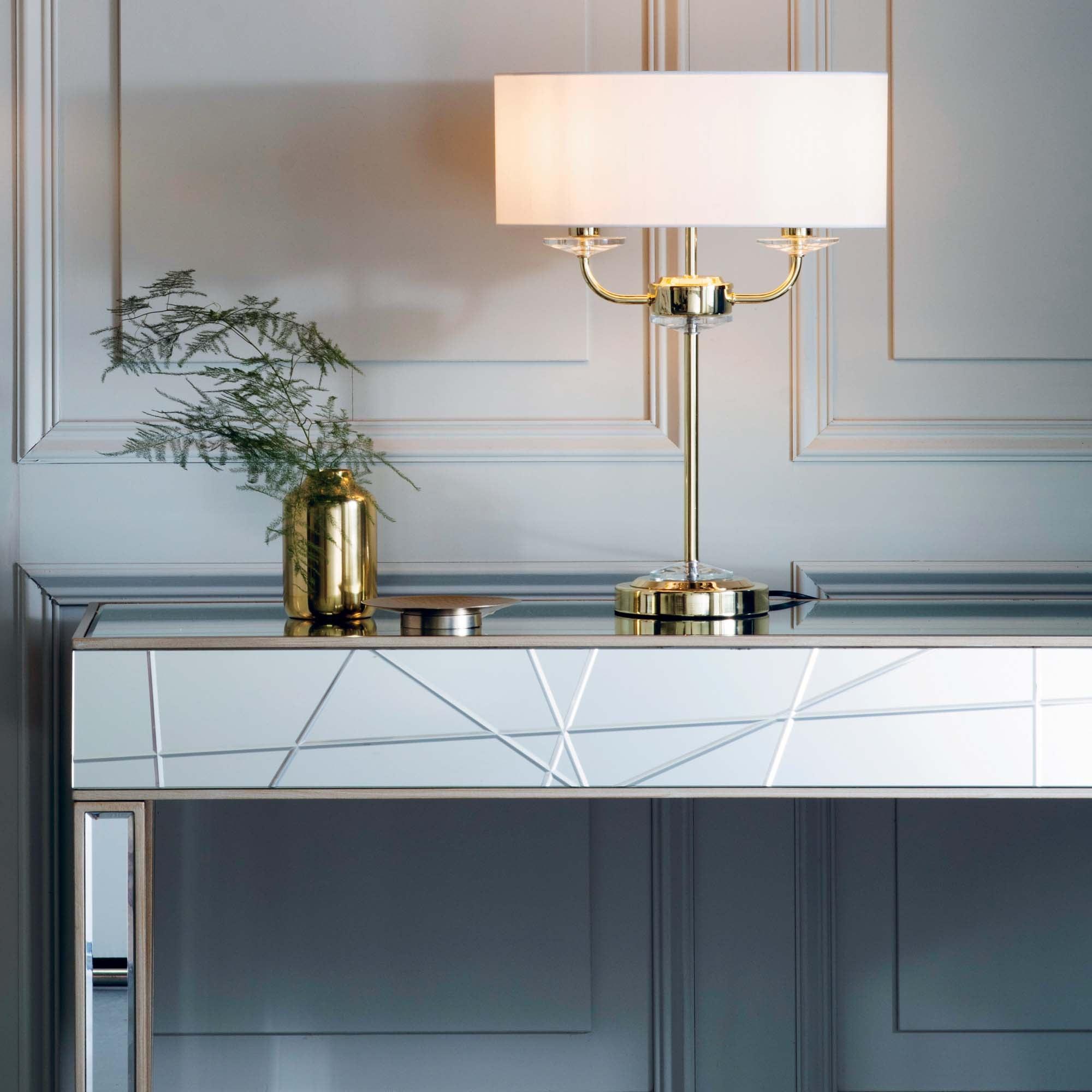 Vogue Katarina 2 Light Table Lamp Brass