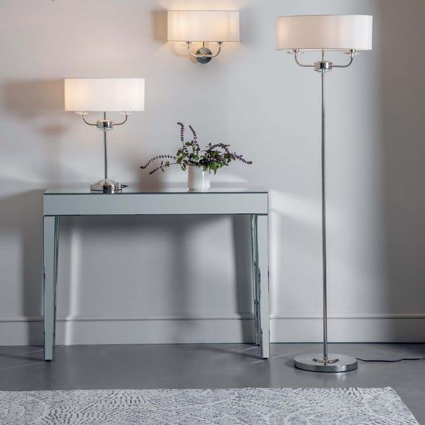 Vogue Katarina 2 Light Floor Lamp Nickel