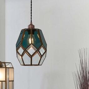 Vogue Eacham 1 Light Pendant Ceiling Fitting