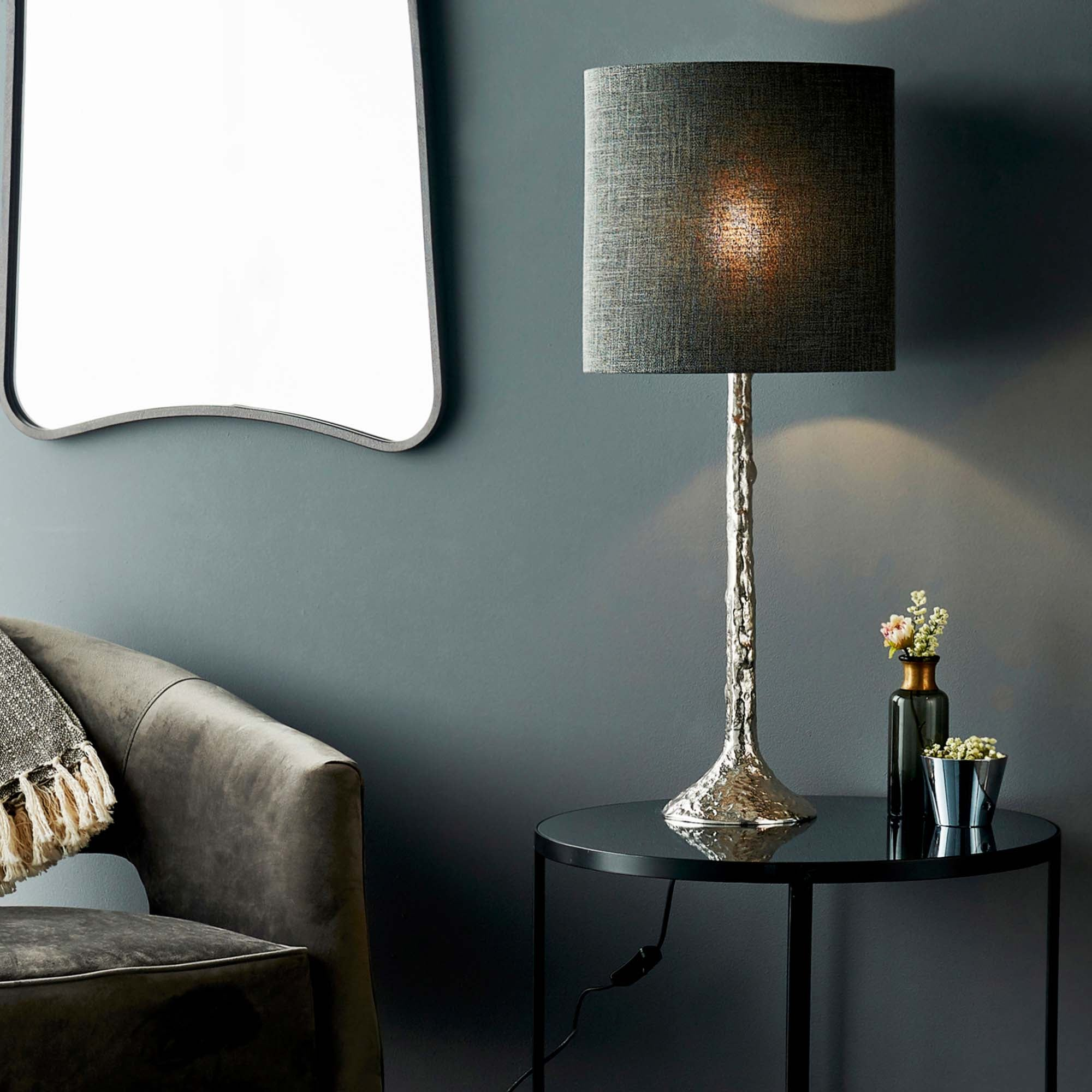 Vogue Pelosa Table Lamp Base Silver
