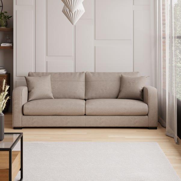Carson Faux Leather 4 Seater Sofa Mink
