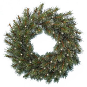 """24"""" Frosted Ontario Pine Wreath"""