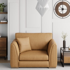 Austin Faux Leather Snuggle Chair