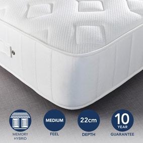 Fogarty Dreamy Comfort Memory Foam Top 1000 Pocket Sprung Mattress