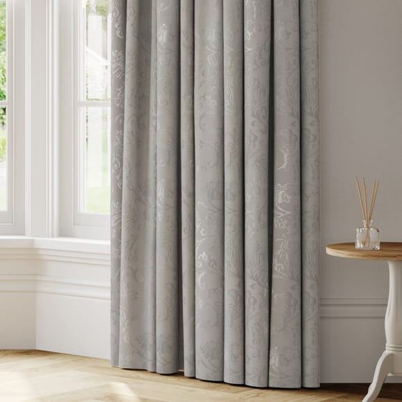 Brocatelle Made to Measure Curtains Brocatelle Grey