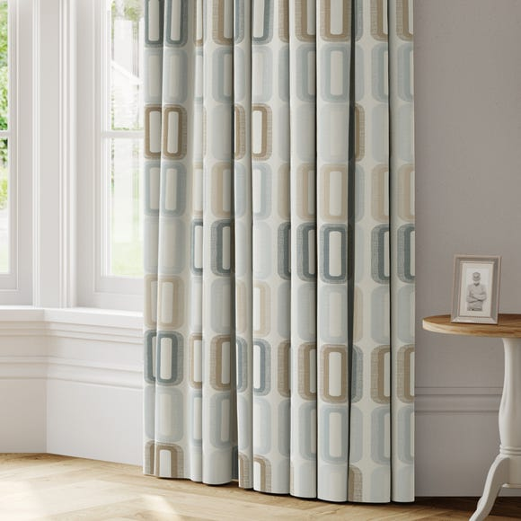 Dahl Made to Measure Curtains Dahl Duck Egg