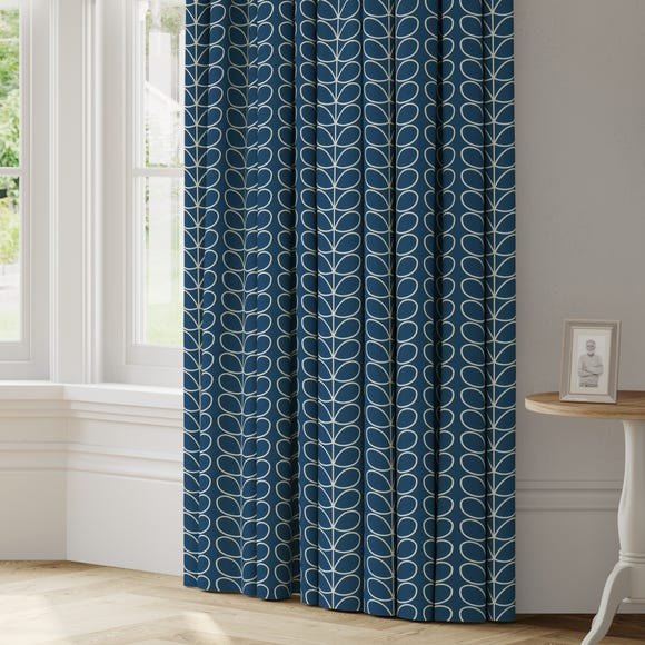 Orla Kiely Linear Stem Made to Measure Curtains Orla Kiely Linear Stem Whale