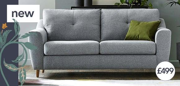 Baxter Fabric 3 Seater Sofa