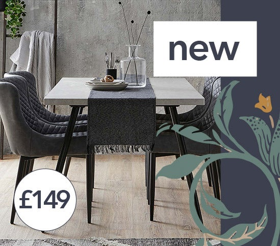 Zuri Concrete Effect Rectangular Dining Table