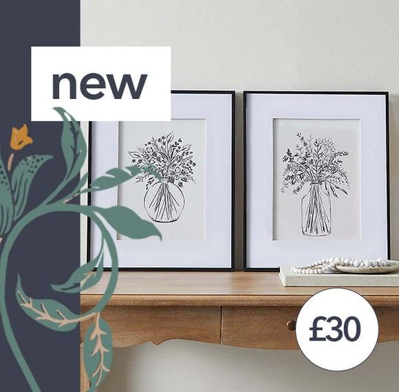 Churchgate Linen Floral Prints