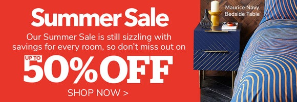 Summer sale up to 50% off >