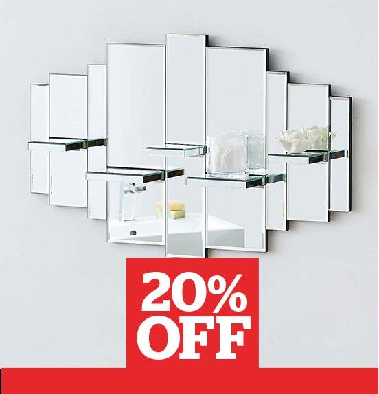 Glam Mirrored Shelves