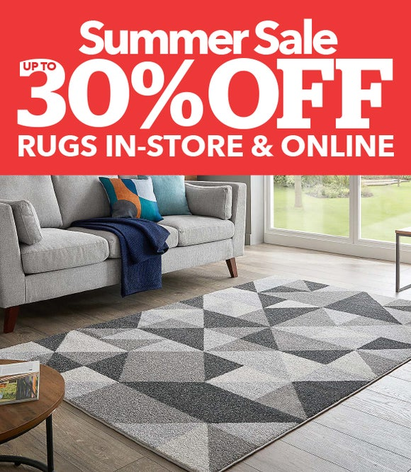 SUMMER SALE - UP TO 30% OFF RUGS IN-STORE & ONLINE