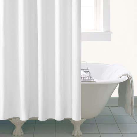 Ceramic Extra Long White Shower Curtain