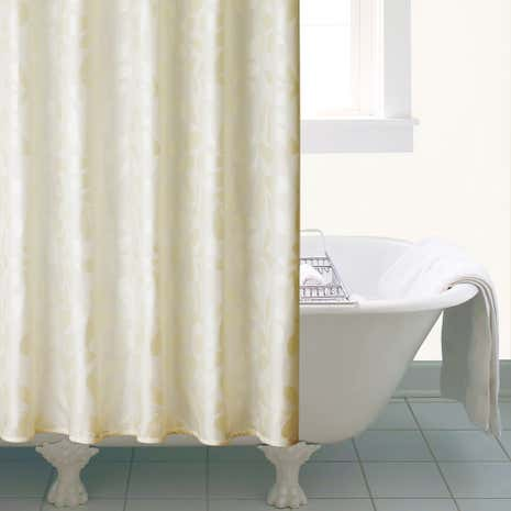 Shanghai Cream Leaf Shower Curtain
