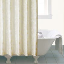 Cream Shanghai Leaf Shower Curtain