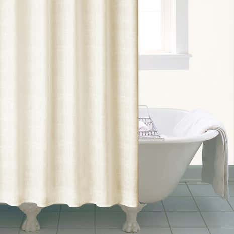 Cream Beachcomber Shower Curtain