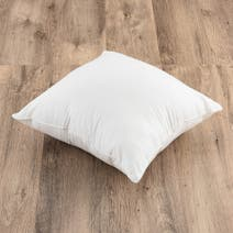 White Piped Cushion Pad