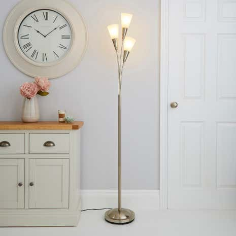 Marble Glass Floor Lamp