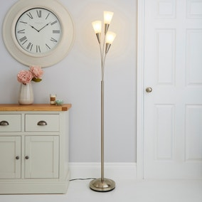 Marble Glass Chrome Floor Lamp