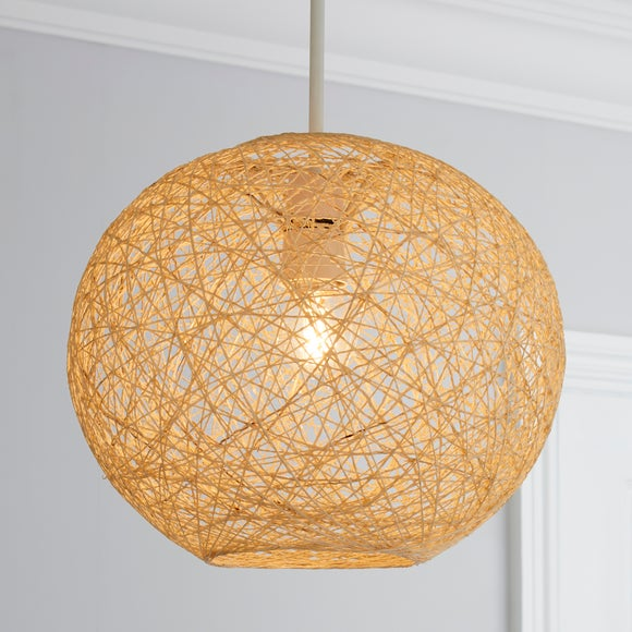 Woven Ball Ceiling Pendant Shade | Dunelm