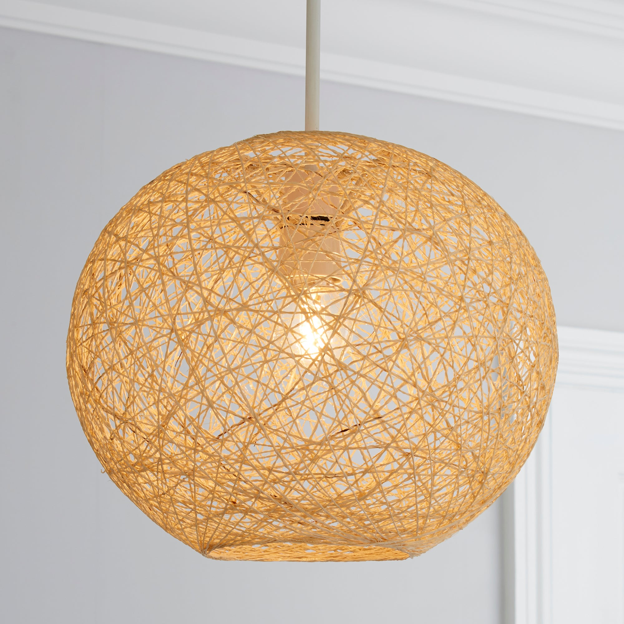 Dunelm Wall Lamp Shades : Woven Ball Ceiling Pendant Shade Dunelm