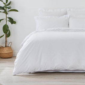 Non Iron Plain Dye White Duvet Cover