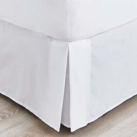 Non Iron Plain Dye Pleated Divan Trim