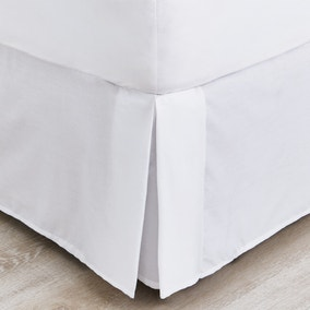 Non Iron Plain Dye White Divan Trim