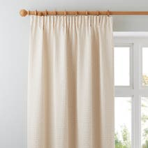 Omega Natural Lined Pencil Pleat Curtains