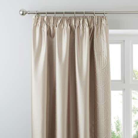 Circles Latte Curtains