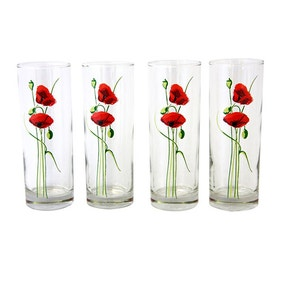 Poppy Pack of 4 Tumblers