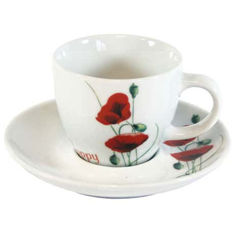 Poppy Cup and Saucer