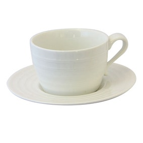 Pausa Ripple Cup and Saucer