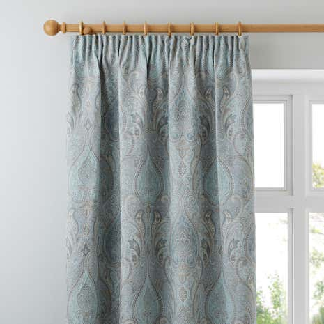 Novello Duck-Egg Lined Pencil Pleat Curtains