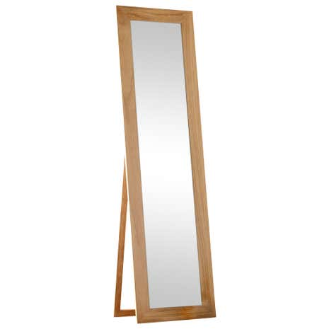 Tall real wood frame mirror dunelm for Long stand up mirror