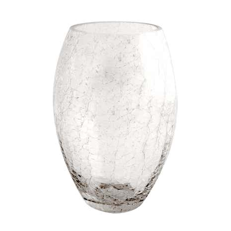 Crackle Glass Vase