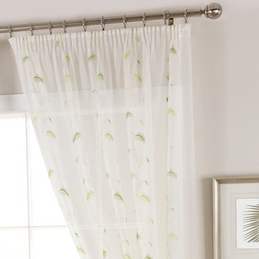 Pampas Green Voile Panel